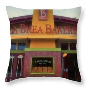 La Brea Bakery Downtown Disneyland Throw Pillow