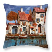 La Cascina Sul Lago Throw Pillow