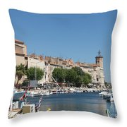 La Ciotat Harbor Throw Pillow