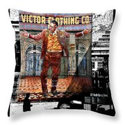 La City Beat Digitized Throw Pillow