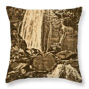 La Coca Falls El Yunque National Rainforest Puerto Rico Prints Rustic Throw Pillow by Shawn O'Brien
