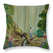 La Coco Falls El Yunque Rain Forest Puerto Rico Throw Pillow
