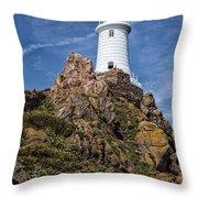 La Corbiere Lighthouse Throw Pillow