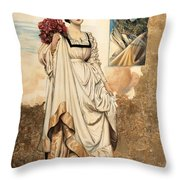La Dama E Il Carnevale Throw Pillow