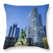 La Defense Memorial Throw Pillow