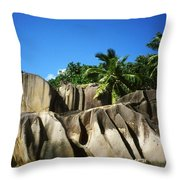 La Digue Island - Seychelles Throw Pillow