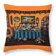 La Familia Or The Family Throw Pillow by Victoria De Almeida