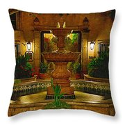 La Fuente At Tlaquepaque Throw Pillow