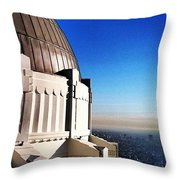 La Griffith Observatory Afternoon Throw Pillow