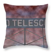 La Griffith Observatory To Telescope Throw Pillow