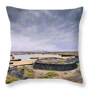 La Isleta On Lanzarote Throw Pillow