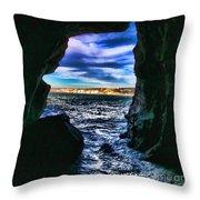 La Jolla Cave By Diana Sainz Throw Pillow