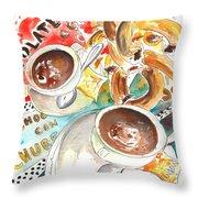 La Laguna Churros Y Chocolate Throw Pillow