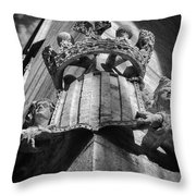 La Lonja Angels Black And White Throw Pillow