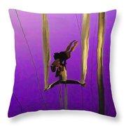 La Loupiote In Lavender Throw Pillow