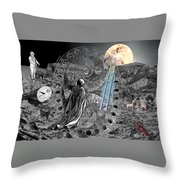 La Luna Throw Pillow