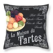 La Maison Du Tartes Throw Pillow by Debbie DeWitt