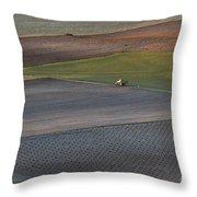 La Mancha Landscape - Spain Series-siete Throw Pillow