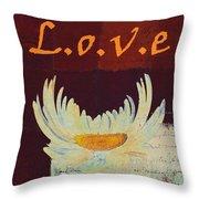 La Marguerite - Love Red Wine  Throw Pillow