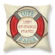 La Mer Cote D'azur Throw Pillow
