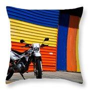 La Motocicleta Throw Pillow