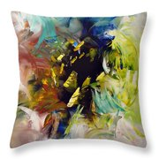 La Palette Enchantee Throw Pillow by Isabelle Vobmann