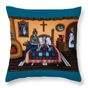 La Partera Or The Midwife Throw Pillow