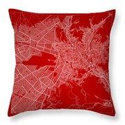La Paz  Street Map - La Paz Bolivia Road Map Art On Color Throw Pillow