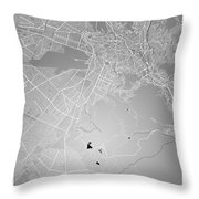 La Paz  Street Map - La Paz Bolivia Road Map Art On Colored Back Throw Pillow