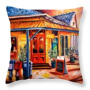 La Peniche In New Orleans Throw Pillow