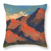 La Quinta Mountains Morning Throw Pillow
