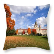 La Roche College On A Fall Day Throw Pillow