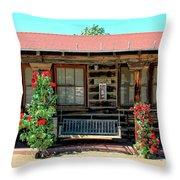 La Rosa Motel Pioneer Town Throw Pillow