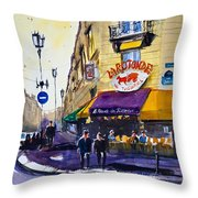 La Rotonde Des Tuileries Throw Pillow