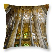 La Sagrada Familia Iv Throw Pillow