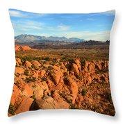 La Sal Landscape Work C Throw Pillow