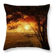 La Savana Al Tramonto Throw Pillow