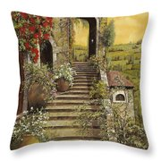 La Scala Grande Throw Pillow by Guido Borelli