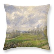 La Sente Du Chou Near Pontoise Throw Pillow