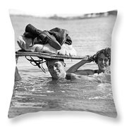 La Snow To Surf Race Throw Pillow