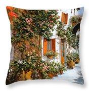 La Strada Al Sole Throw Pillow