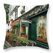 La Terrasse In Montmartre Throw Pillow