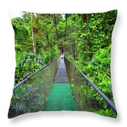La Tirimbina Suspension Bridge Throw Pillow