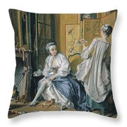 La Toilette Throw Pillow