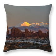 La Turret Throw Pillow