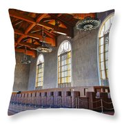Los Angeles Union Station At Its 75th Anniversary Throw Pillow