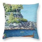 La Vie En Rose Throw Pillow by Danielle  Perry