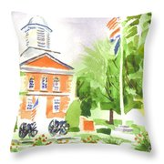 Labor Day Morning  Throw Pillow