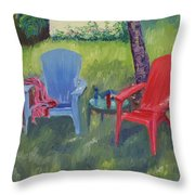 Labor Day Weekend Throw Pillow