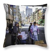 Laboring Under The Bridge 2 Throw Pillow